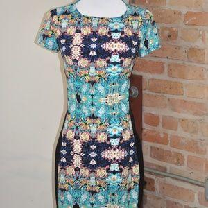 Patterned Sheath Dress